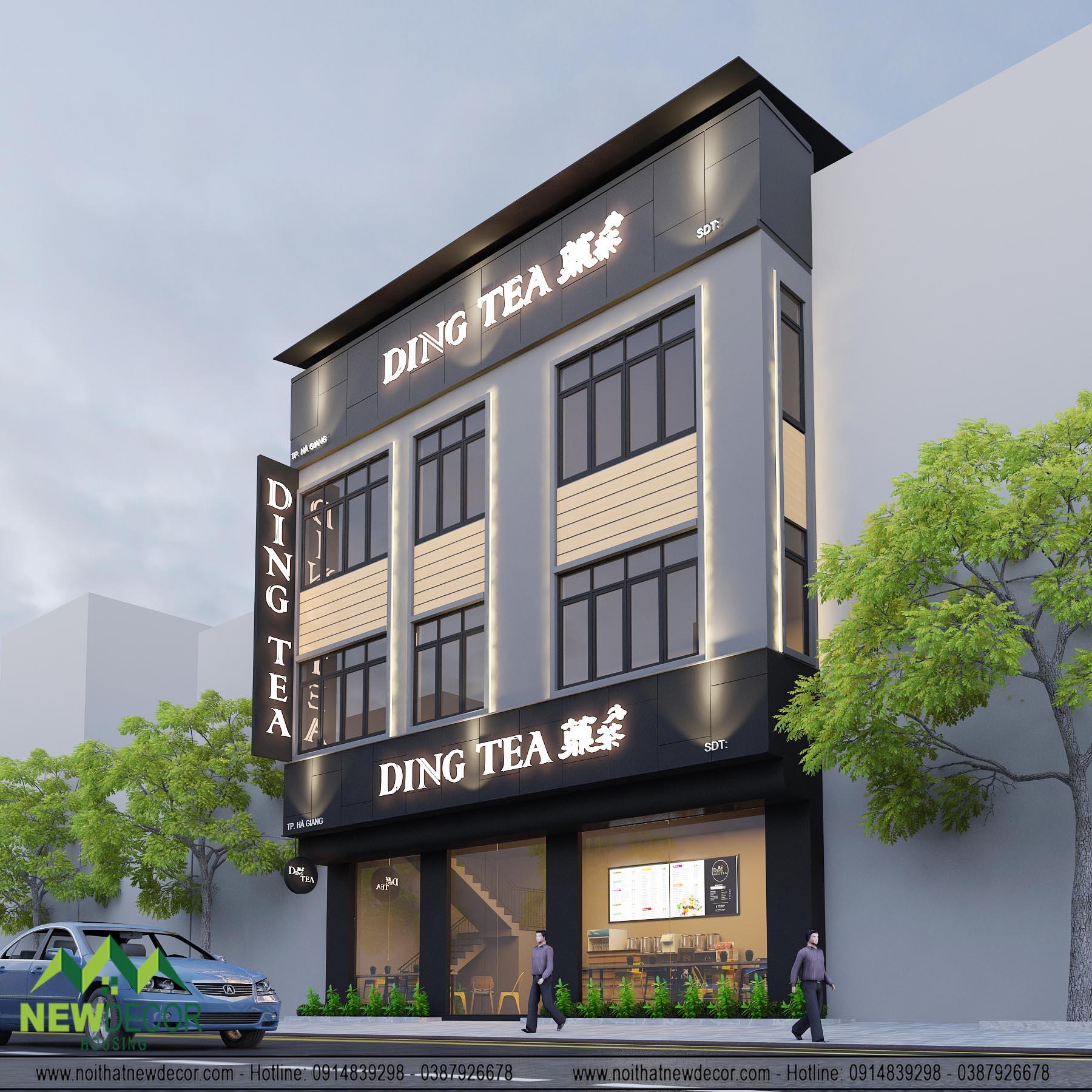 Thiết kế quán Dingtea
