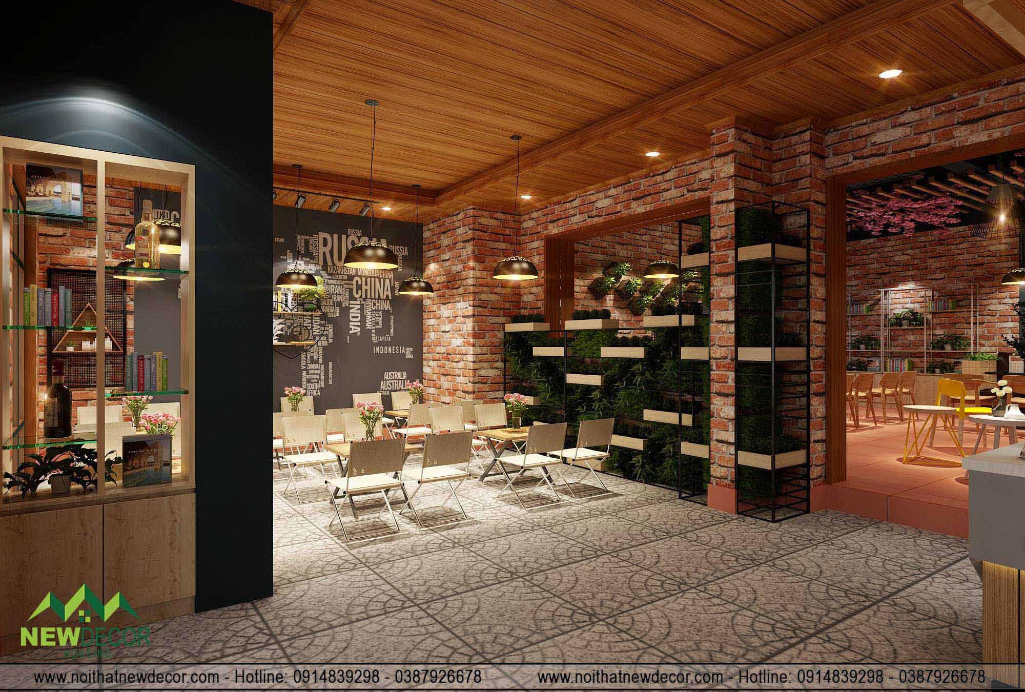 Thiết kế nội thất quán cafe tại Nam Định