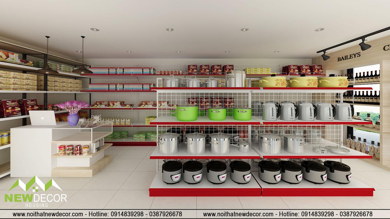 thiết kế cửa hàng tạp hóa đẹp hút khách