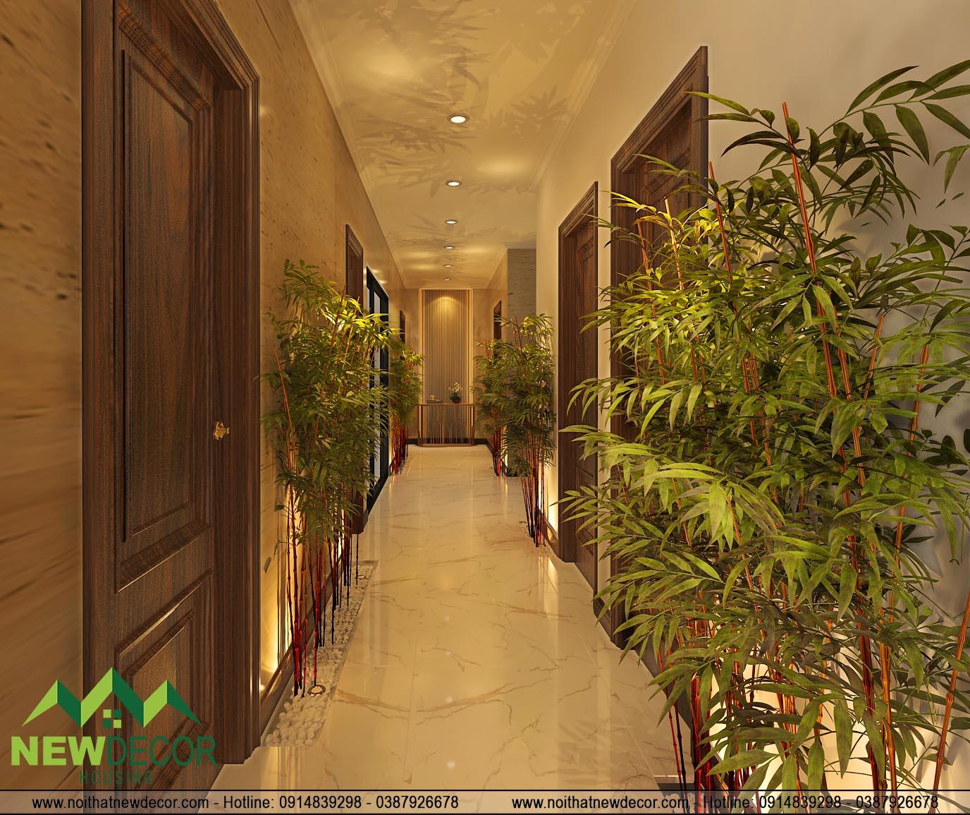 Thiết kế và thi công Spa với hành lang rộng rãi