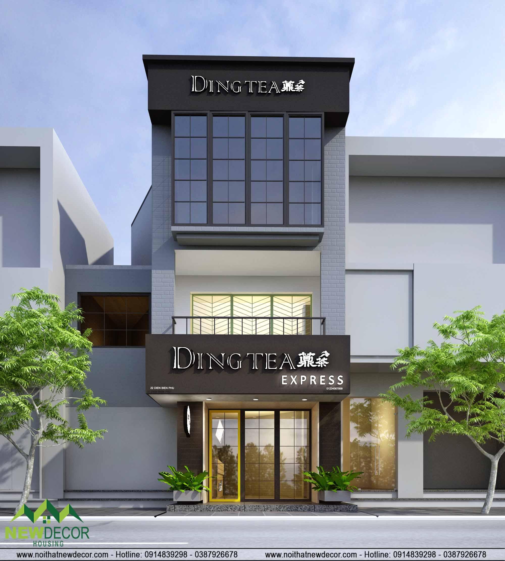Thiết kế quán trà sữa Dingtea