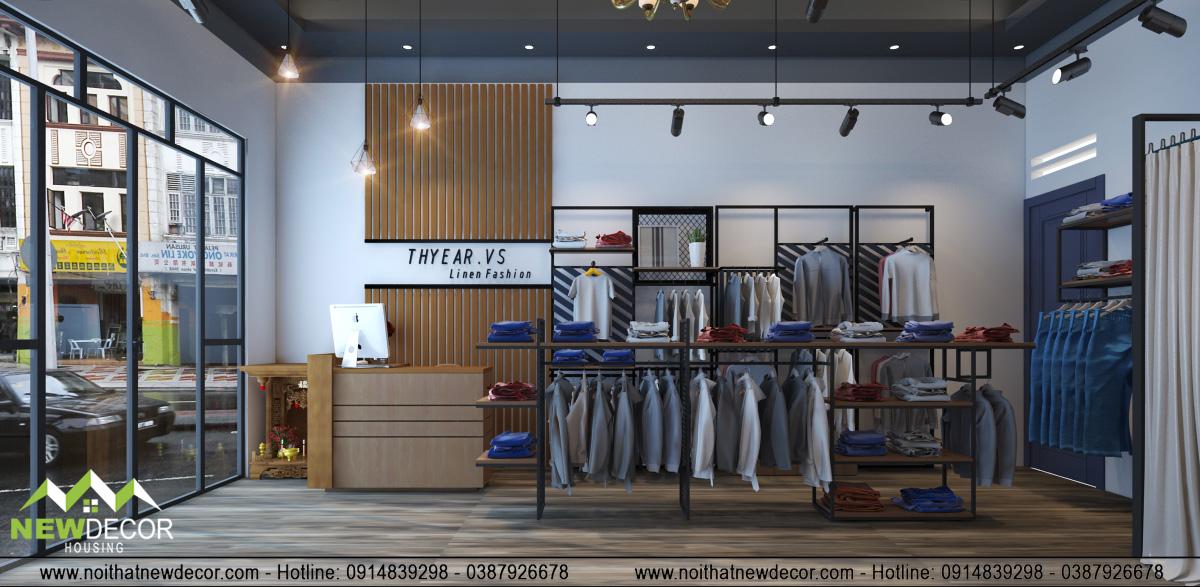 Thiết kế shop thời trang Men