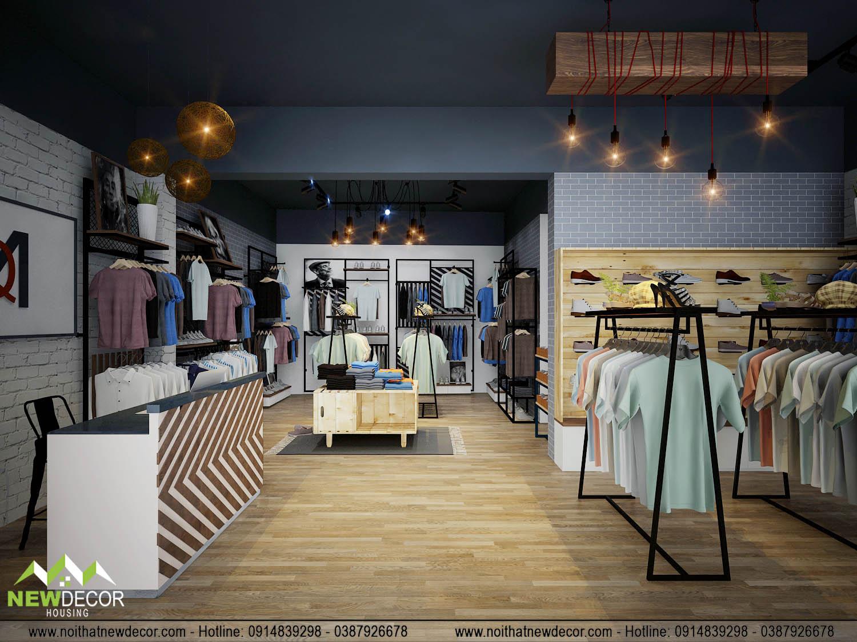 Bố trí không gian hiện đại, đẹp mắt tại shop quần áo