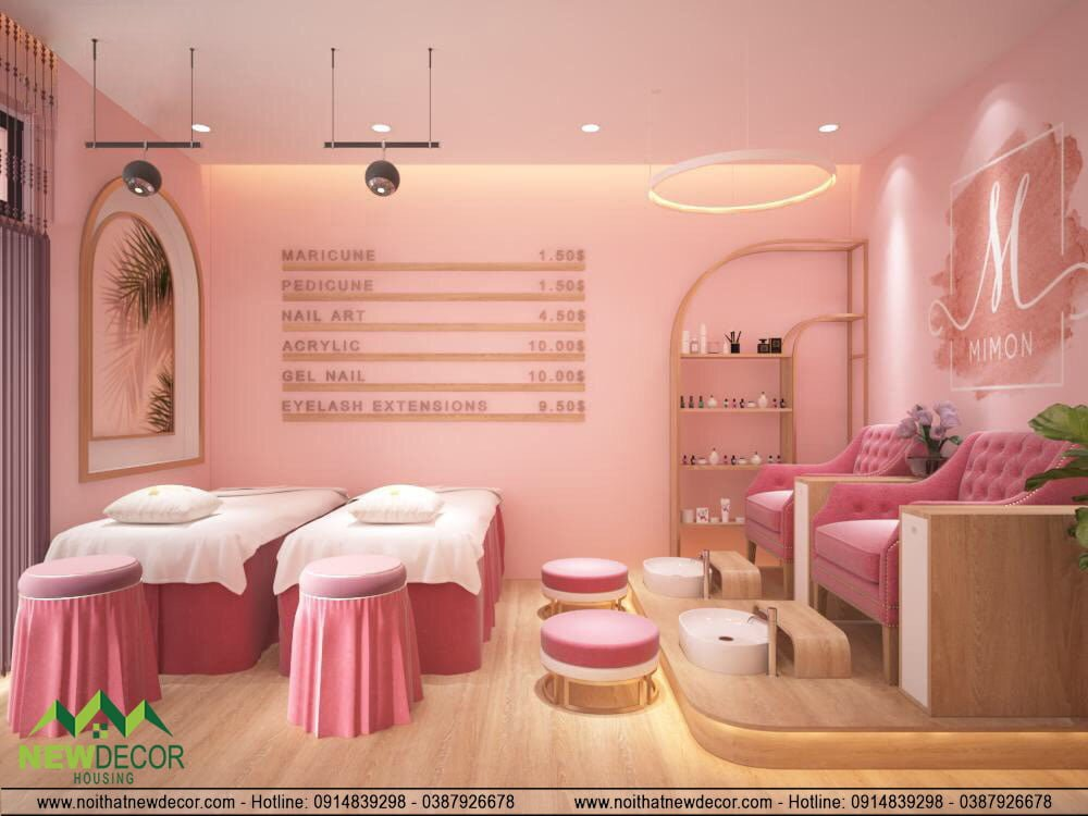 Thiết kế nội thất tiệm nail